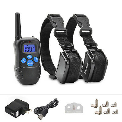 330Yard Pettrainer Electric Remote Dog Training Collar Rechargeable Shock Collar