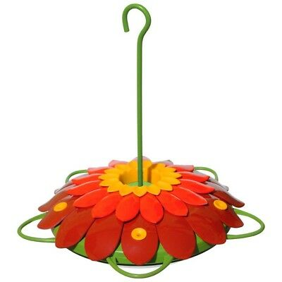 Hanging Hummingbird Feeder Large Ant Bee Proof Big Plastic Flower Nectar 16 Ozs