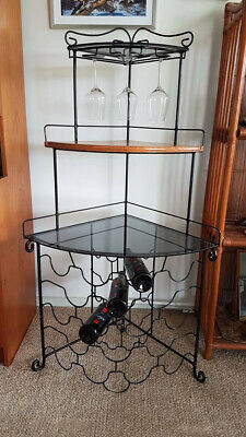 Bar accessories - hand made wine rack with glass storage