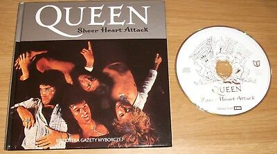 Queen Sheer Heart Attack Remastered Cd & Book (2008 Polish Special Edt) As New