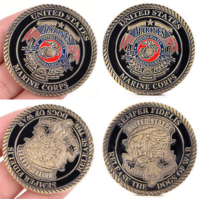 Marine Corps Gift Gold Plated Coin Collection Art Commemorative Coins GiftsC!C