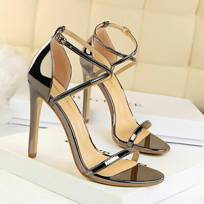 Women Gladiator Sandals Sexy High Stiletto Heel Party Wedding Pumps Ladies Shoes