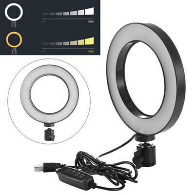 16cmDimmable LED SMD Studio Ring Light Annular Lamp for Camera Cam Phone Selfie