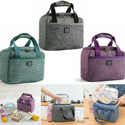 New Insulated Lunch Bag Oxford Portable Picnic/Camping Cool Bag Tote Bags h8