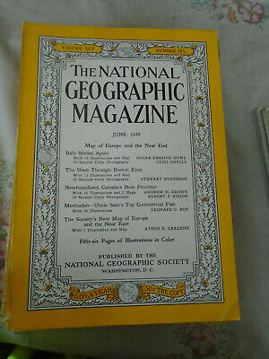 National Geographic magazine June 1949