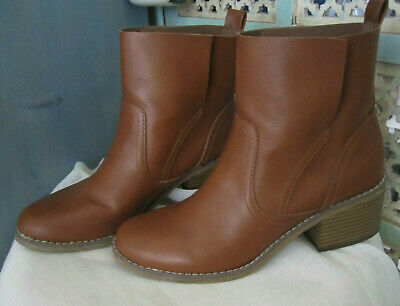 MOSSIMO Supply Co. - COGNAC SLIP-ON ANKLE BOOTS - SZ 9.5/ 40 - NEAR NEW