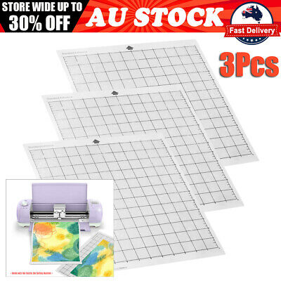 "3Pcs 12""X12"" Cutting Mat Transparent Adhesive Mat for Silhouette Cameo AU"