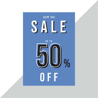 SALE Now On Poster upto 50% OFF / Sale Posters for Retail Shop Window / Wall
