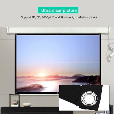 """60""""Inch Projection Projector Screen Fabric 16:9 Portable Cinema Theater Matte"""
