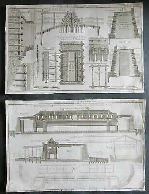 Water Constructions 1739,  21 pcs of Engravings,  Belidor