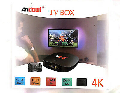Smart Tv Box Andowl Q9 Pro Android 7.1 4K 4Gb Ram 32 Gb Rom Con Tastiera Wireles
