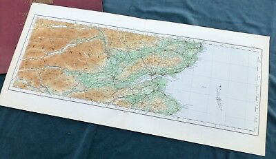 SCOTLAND -  Vintage Cloth OS MAP, 1924 - DUNDEE & PERTHSHIRE