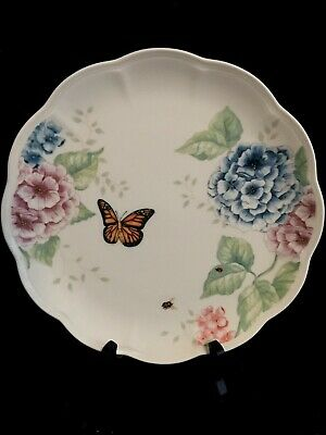 Lenox Butterfly Meadow Hydrangea Dinner Plate, Safely Stored, Mint
