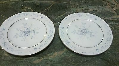 Noritake China Carolyn 2693 Lot Of 2 Bread And Butter Plates Blue Floral