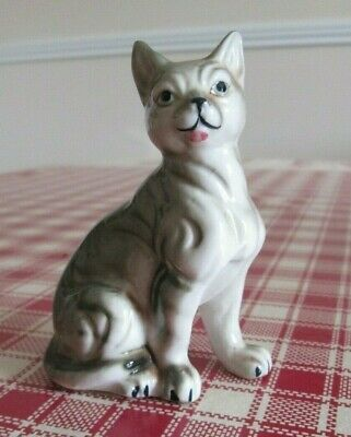 Small Vintage Ceramic Cat Figurine