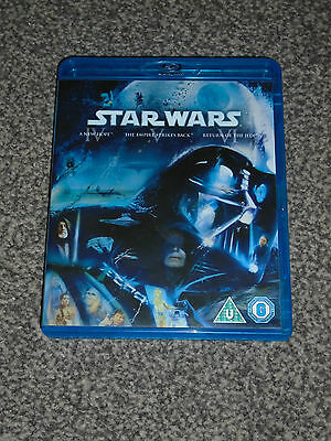 Star Wars : Episodes Iv - Vi  3 Film Blu Ray Collection In Vgc (Free Uk P&P)