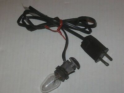 Brown Christmas Village Light Cords Blow Mold Cord Halloween Village  4 ft.