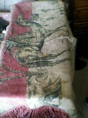 Antique 40 x 20 1920s wall hanging camel tapestery egyption