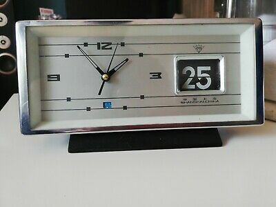 Reloj Despertador Antiguo vintage retro con calendario