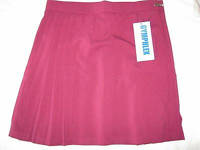 "GYMPHLEX Girls/Ladies MAROON School Gym Kilt/Skirt W32"" 16+ yrs- NEW!"