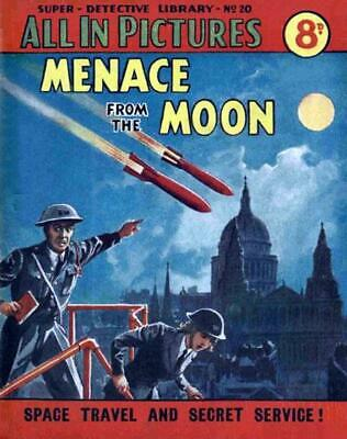 SUPER DETECTIVE LIBRARY No.20 MENACE FROM THE MOON - Facsimile