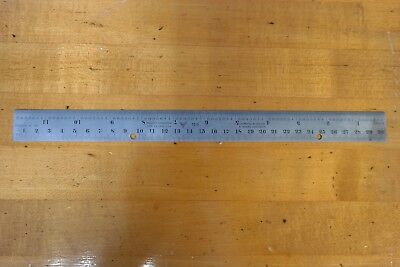 "PEC 12"" Calibrated Machinist Ruler 7513 Blem"