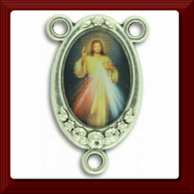 Divine Mercy of Jesus Color Image ROSARY CENTER Centerpiece Italy  ✰ New Item ✰