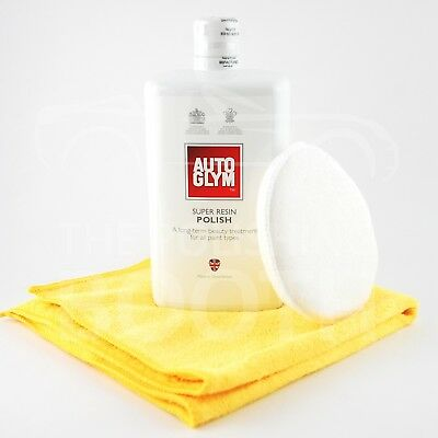 Autoglym Super Resin Polish 1000ml with Microfibre and MF Applicator FREE UK P&P