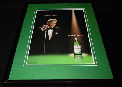 Tony Bennett 2002 Tanqueray Gin 11x14 Framed ORIGINAL Advertisement