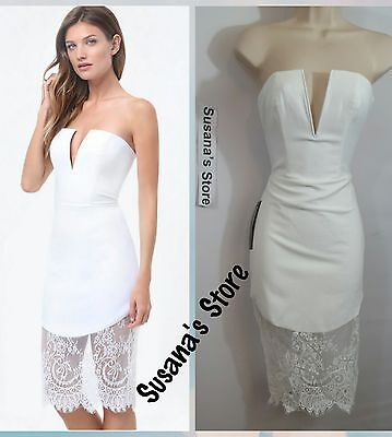 NWT bebe Lace Trim V-Notch Midi Dress SIZE XS Very attractive and sexy $160