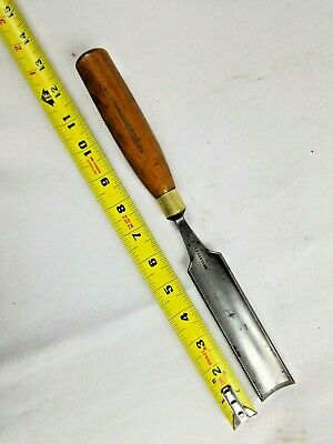 "Gouge 1 1/4"" Boxwood Handle, Moulson Bros. Sheffield Steel, Since 1825"