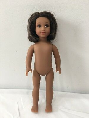 "American Girl MINI Doll Luciana Vega 6.5"" No Clothes No Shoes Dark Hair"
