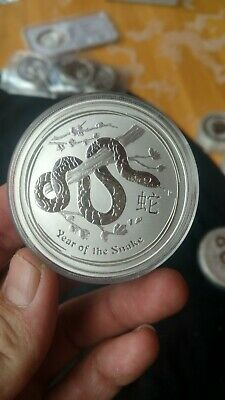 2013 Australian Perth Mint Year of the Snake 2 Troy .999 oz coin round two ounce