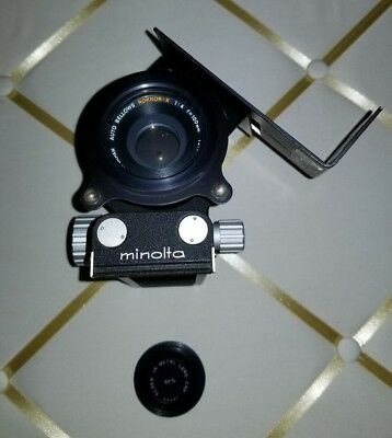 Minolta 100mm 1:4 Rokkor-X Auto Bellows lens and bellows system with twist plate