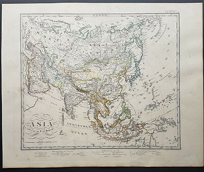 Map Historical Asia Asian Stielers Hand Atlas N° 39