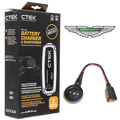 Aston Martin DB11 4.3A Battery Charger Tender Conditioner & Custom Adapter