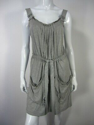 Elie Tahari Sleeveless Crew Neckline Dress Size M Medium Solid Gray 033