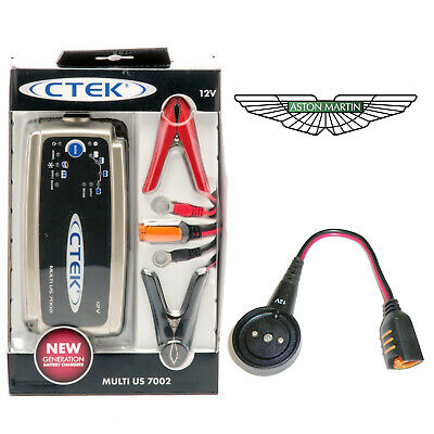 Aston Martin DB11 CTEK MUS 7002 Battery Charger Tender Conditioner & Adapter