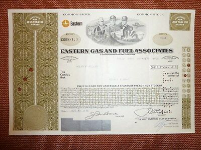 US: Eastern Gas and Fuel Associates, 1976, div. Shares, GAS