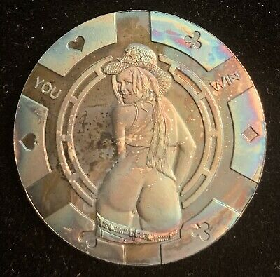 You win Hot Cowgirl  / 1 oz .999 Fine Silver Round Bar Bullion Coin TONED
