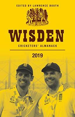 Wisden Cricketers' Almanack 2019 by Lawrence Booth New Hardback Book