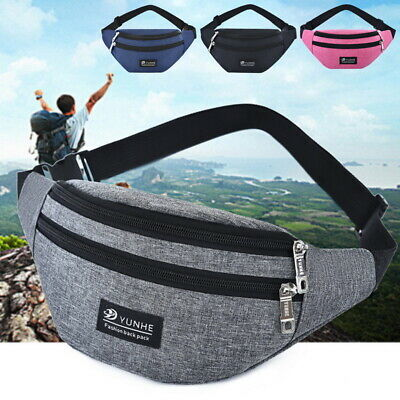Bag Fanny Pack Pouch Travel Festival Waist Belt Leather Holiday Money Wallet DD