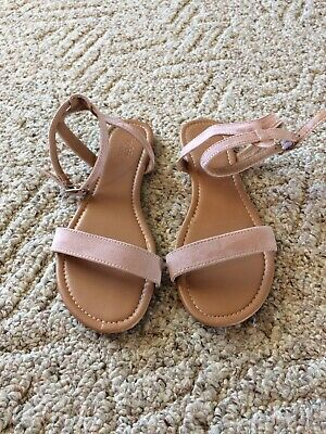 9aa786cd6859 Charlotte Russe Faux Suede Pink Blush Ankle Strap Gladiator Sandal Sz 7