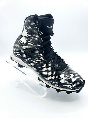 cacd1f11b Under Armour Highlight 1258034-011 Football Cleats Kids Size 4 Black White  Youth