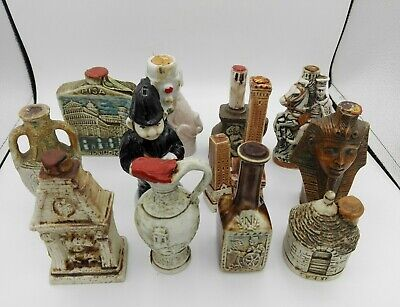12 Miniature mignon minibottle ceramica ceramic decanter