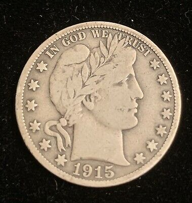 1915-S Barber Half Dollar,Final Year Issue