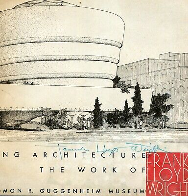 Guggenheim Museum book / catalog- 50 years of Frank Lloyd Wright -signed by FLW