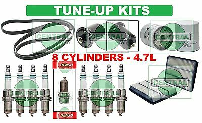 tune up kits for 00-05 toyota tundra 4 7l: spark plug belt air