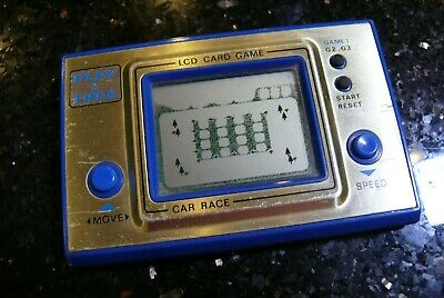 Playtime CAR RACE  LCD Vintage Electronic Handheld  Arcade Game & Watch  ✨RARE✨