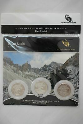 2013 US Mint Great Basin National Park ATB Quarters - 3 Coin Set Sealed